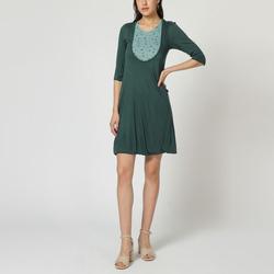 textil Mujer Vestidos cortos Laga T31 VERDE