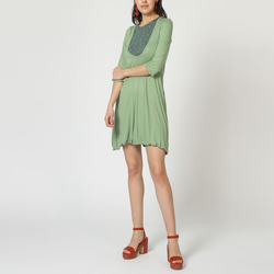 textil Mujer Vestidos cortos Laga T31 KAKI