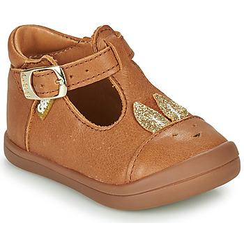 Zapatos Niña Bailarinas-manoletinas GBB ANINA Cognac