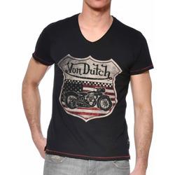 textil Hombre Camisetas manga corta Von Dutch  Negro