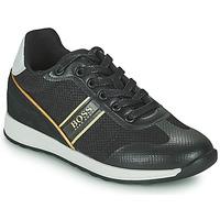 Zapatos Niño Zapatillas bajas BOSS TRAMMI Negro / Oro