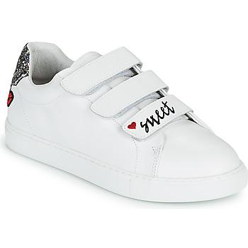 Zapatos Mujer Zapatillas bajas Bons baisers de Paname EDITH SWEET HEART Blanco