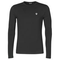 textil Hombre Camisetas manga larga Emporio Armani EA7 TRAIN CORE SHIELD Negro