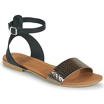 Zapatos Mujer Sandalias Betty London GIMY Negro / Acero