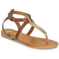 Zapatos Mujer Sandalias Betty London ORIOUL Camel / Oro