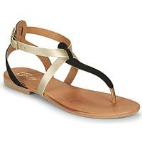 Zapatos Mujer Sandalias Betty London ORIOUL Negro / Oro