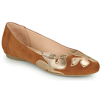 Zapatos Mujer Bailarinas-manoletinas Betty London ERUNE Camel / Oro