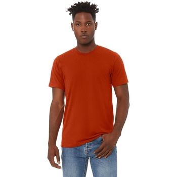 textil Hombre Camisetas manga corta Bella + Canvas CA3413 Ladrillo Triblend