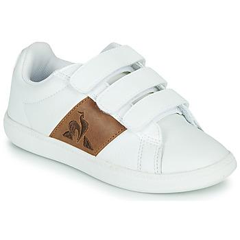 Zapatos Niños Zapatillas bajas Le Coq Sportif COURTCLASSIC PS Blanco / Marrón
