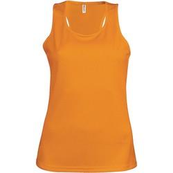 textil Mujer Camisetas sin mangas Proact Débardeur femme  Sport orange