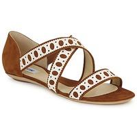 Zapatos Mujer Sandalias Moschino DELOS SAND Camel / Marfil