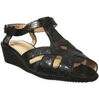 Zapatos Mujer Sandalias Marco TWIST Cuero negro