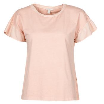 textil Mujer Camisetas manga corta Esprit T-SHIRTS Rosa
