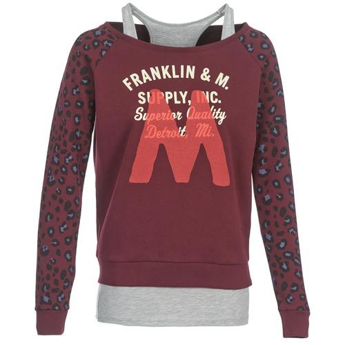 Franklin & Marshall MANTECO Burdeo / Gris - Envío gratis | ! - textil sudaderas Mujer
