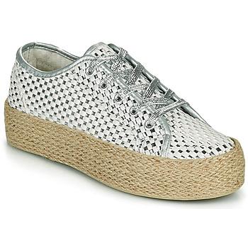 Zapatos Mujer Zapatillas bajas Café Noir DROMA Blanco / Plata
