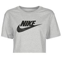 textil Mujer Camisetas manga corta Nike NSTEE ESSNTL CRP ICN FTR Gris / Negro