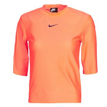 textil Mujer Camisetas manga corta Nike NSICN CLSH TOP SS MESH Naranja