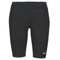 textil Mujer Leggings Nike NSESSNTL MR BIKER SHORT Negro / Blanco