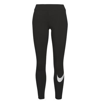 textil Mujer Leggings Nike NSESSNTL GX MR LGGNG SWSH Negro / Blanco