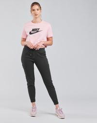 textil Mujer Pantalones de chándal Nike NSAIR PANT FLC MR Negro / Blanco