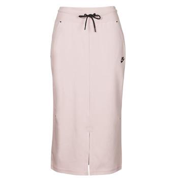 textil Mujer Faldas Nike NSTCH FLC SKIRT Beige / Negro
