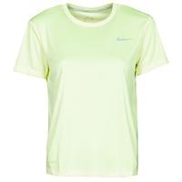 textil Mujer Camisetas manga corta Nike MILER TOP SS Verde / Gris