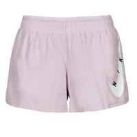 textil Mujer Shorts / Bermudas Nike SWOOSH RUN SHORT Violeta / Blanco