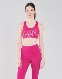 textil Mujer Sujetador deportivo  Nike DF SWSH FUTURA GX BRA Rosa / Blanco