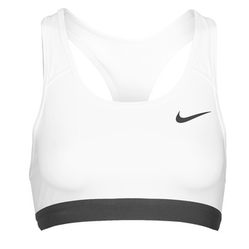 textil Mujer Sujetador deportivo  Nike DF SWSH BAND NONPDED BRA Blanco / Negro