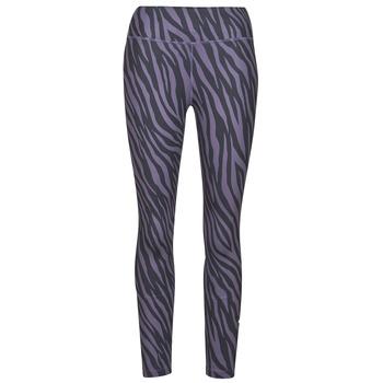 textil Mujer Leggings Nike NIKE ONE 7/8 AOP TGT ICNCLSH Violeta / Negro