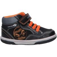 Zapatos Niño Zapatillas altas Geox B9437A 0MEAF BABY FLICK Negro