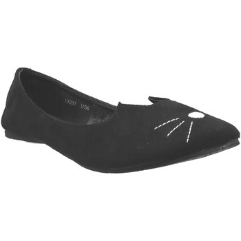 Zapatos Mujer Bailarinas-manoletinas TUK A9008L Terciopelo negro