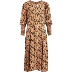 textil Mujer Vestidos Vila VIKITTIE L/S MIDI DRESS Marrón