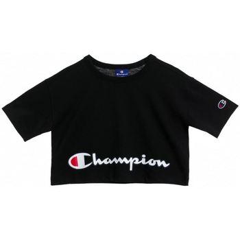 textil Niños Camisetas manga corta Champion Sudadera  cuello caja de niña
