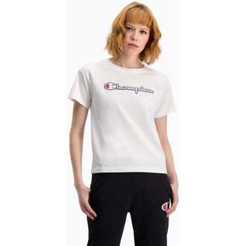 textil Mujer Camisetas manga corta Champion Camiseta  de punto mujer Blanco