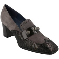 Zapatos Mujer Mocasín She - He 7495 NEGRO Gris