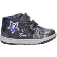 Zapatos Niña Zapatillas altas Geox B841HC 0AUAJ B NEW FLICK Gris