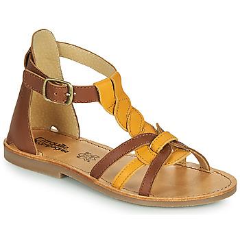 Zapatos Niña Sandalias Citrouille et Compagnie GITANOLO Amarillo / Camel