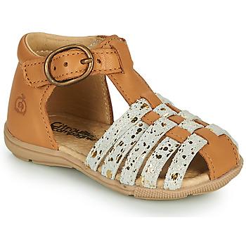 Zapatos Niña Sandalias Citrouille et Compagnie RINE Camel / Camaieu / Oro