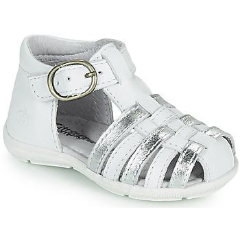 Zapatos Niña Sandalias Citrouille et Compagnie RINE Blanco / Plateado