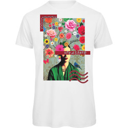 textil Mujer Camisetas manga corta Openspace Frida Flower blanco