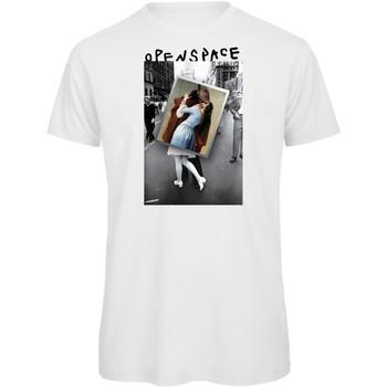 textil Mujer Camisetas manga corta Openspace Photo Kiss blanco