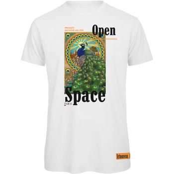 textil Mujer Camisetas manga corta Openspace Peacock blanco