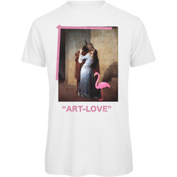 textil Mujer Camisetas manga corta Openspace Art Love blanco