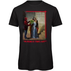 textil Hombre Camisetas manga corta Openspace Wromg Time Art negro