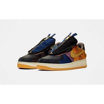 Zapatos Zapatillas bajas Nike Air Force 1 Low x Travis Scott Multi-Color/Muted Bronze-Fossil