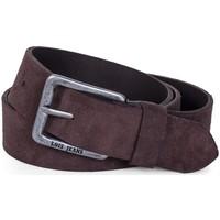 Accesorios textil Cinturones Lois Cinturón para mujer de Terciopelo de la firma Marron oscuro