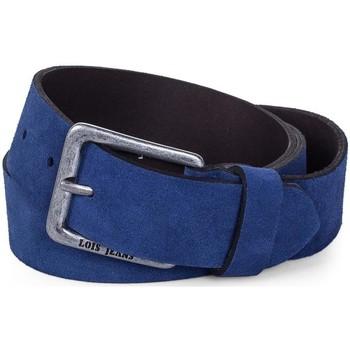 Accesorios textil Cinturones Lois Cinturón para mujer de Terciopelo de la firma Azul