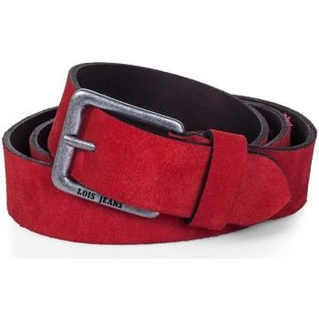 Accesorios textil Cinturones Lois Cinturón para mujer de Terciopelo de la firma Rojo