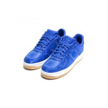 Zapatos Zapatillas bajas Nike Air Force 1 Low x CLOT Silk Blue Game Royal/White-Gum Light Brown